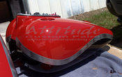 Bright Red Black with Silver Graphics