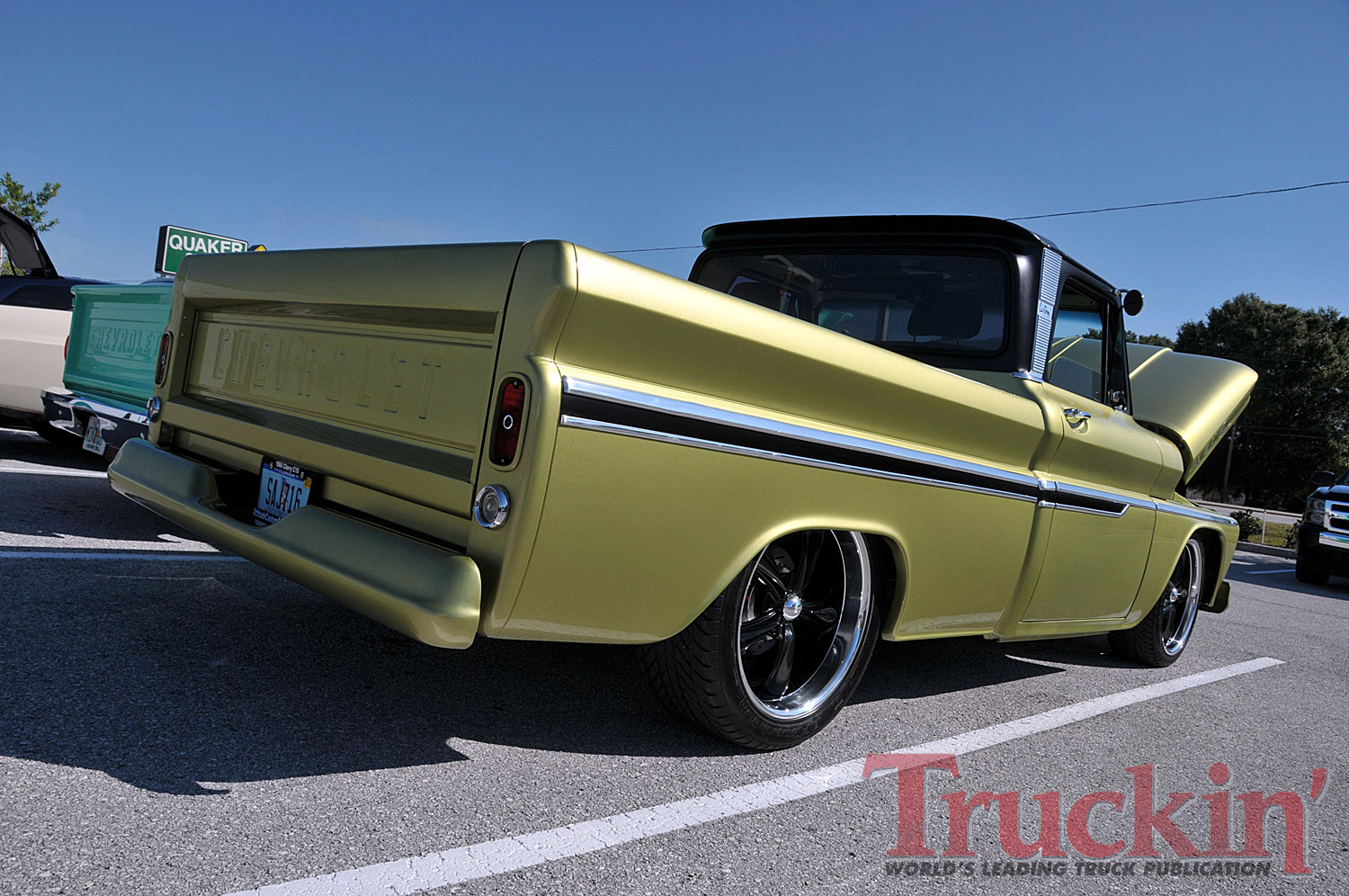 Featured Article Custom Classic Trucks Magazine February 2012 1966 Chevy Impala Wheels Motorcycle Painting Flames Graphics Cars Attitude