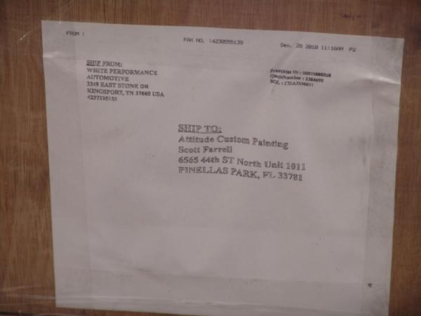 motor shipping label