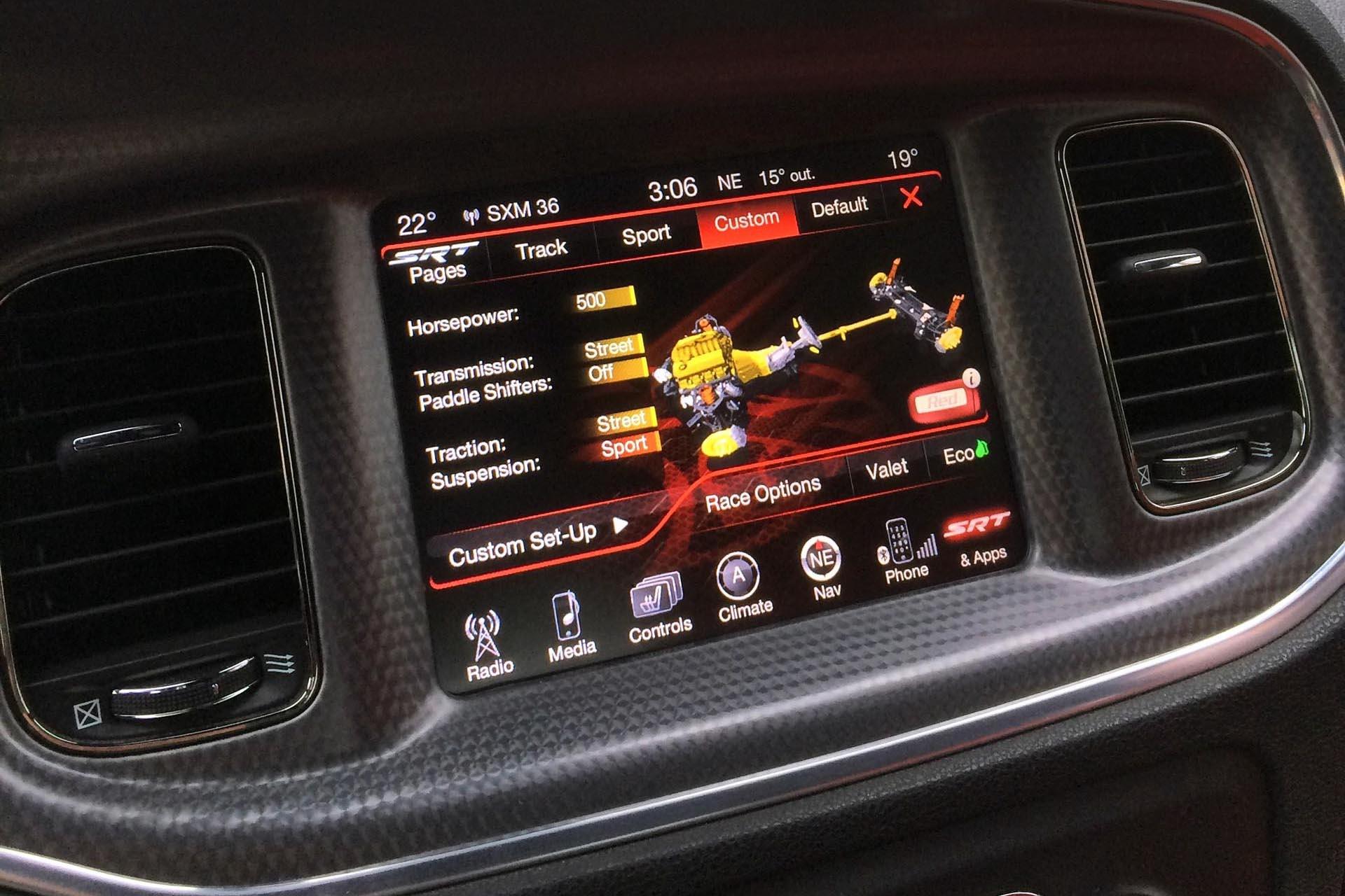 04 JY 2015 Dodge Charger SRT Hellcat Drive Mode Menu