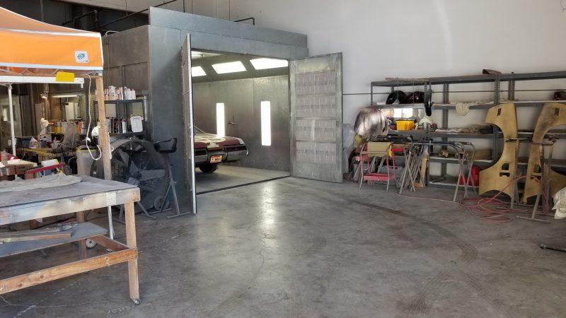 Spray booth rental